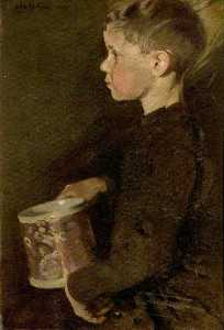 William Newzam Prior Nicholson - Boy with the Caroline Mug