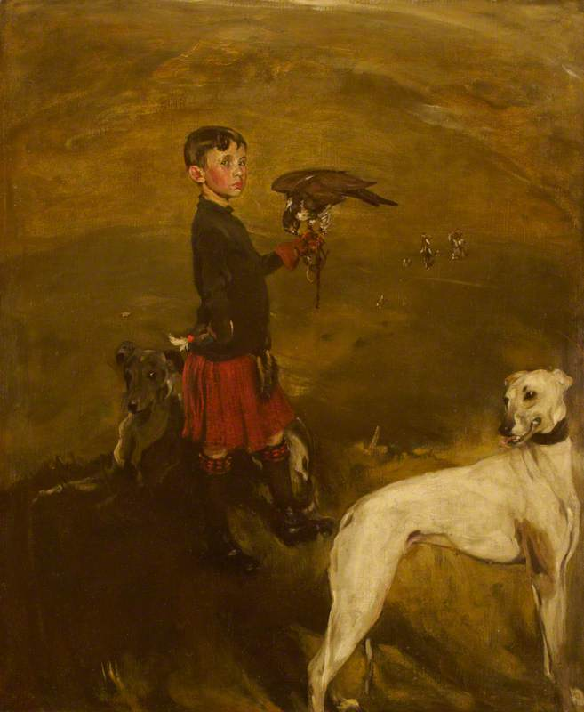Hawking, Oil On Canvas by William Newzam Prior Nicholson (1872-1949, United Kingdom)