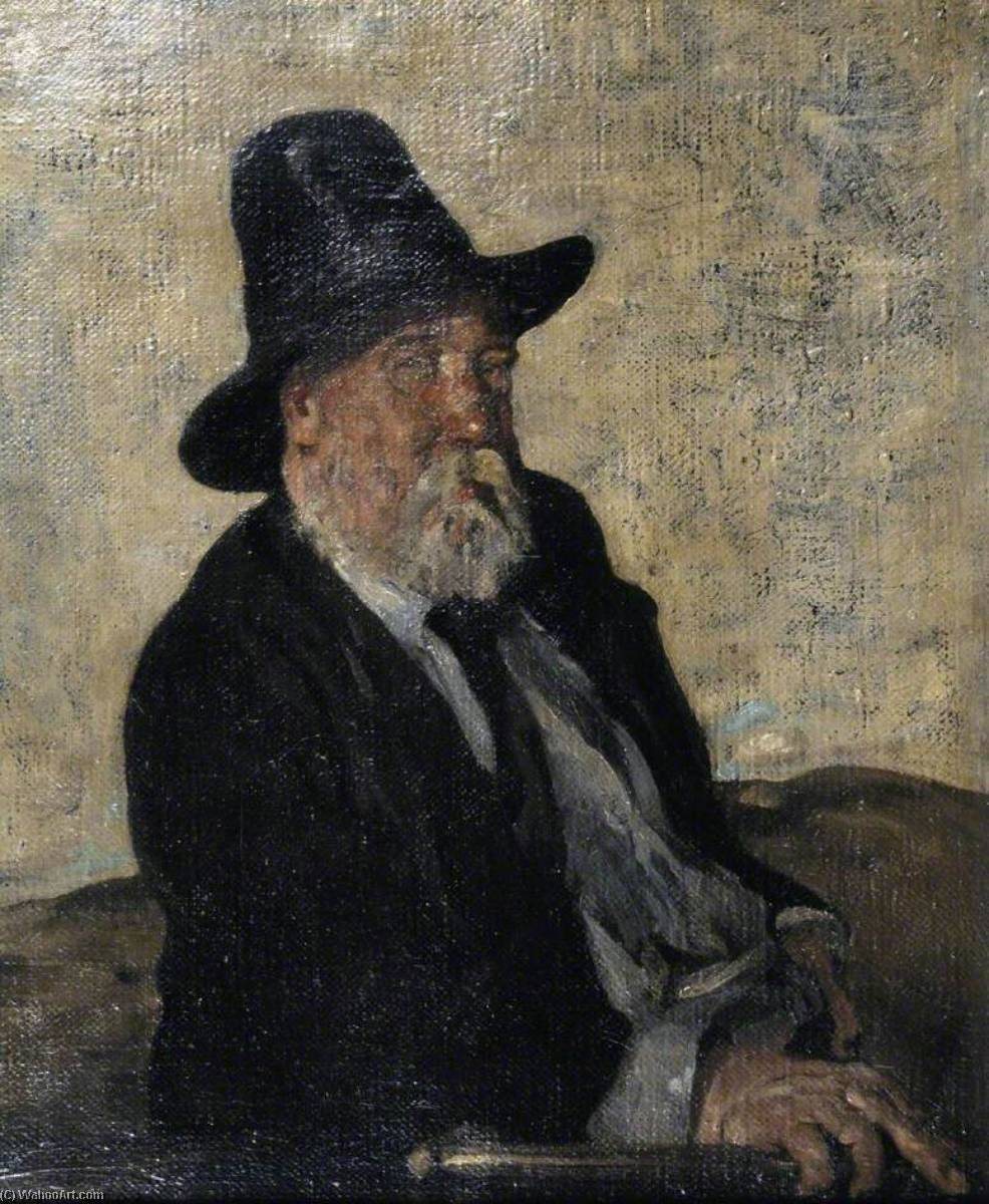 Portrait of a Man of Letters W. E. Henley, 1901 by William Newzam Prior Nicholson (1872-1949, United Kingdom) | Painting Copy | WahooArt.com