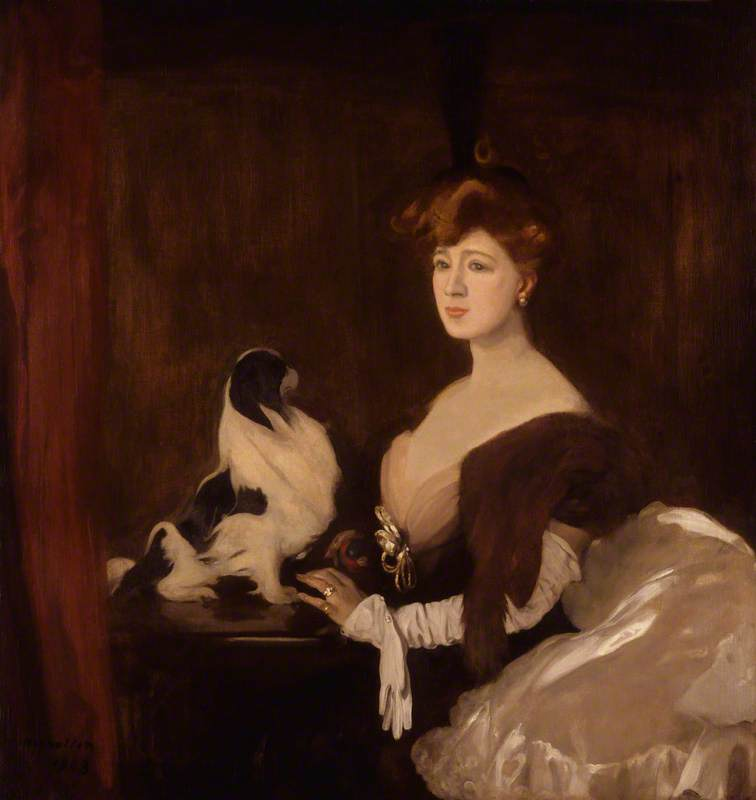 Dame Marie Tempest, née Mary Susan Etherington, 1903 by William Newzam Prior Nicholson (1872-1949, United Kingdom) | Famous Paintings Reproductions | WahooArt.com