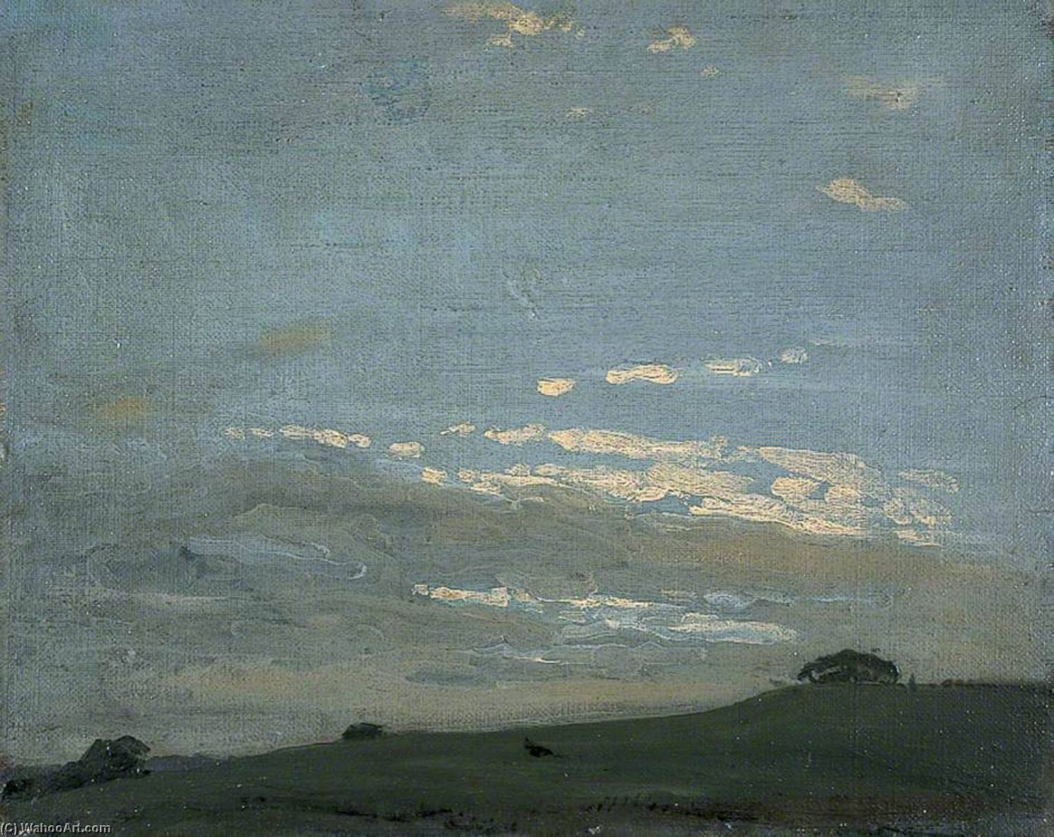 The Silver Sunset, 1910 by William Newzam Prior Nicholson (1872-1949, United Kingdom) | Famous Paintings Reproductions | WahooArt.com