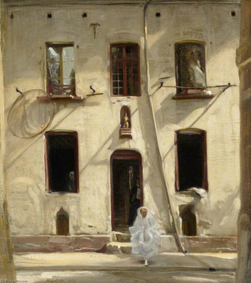 The First Communion, 1907 by William Newzam Prior Nicholson (1872-1949, United Kingdom) | Painting Copy | WahooArt.com