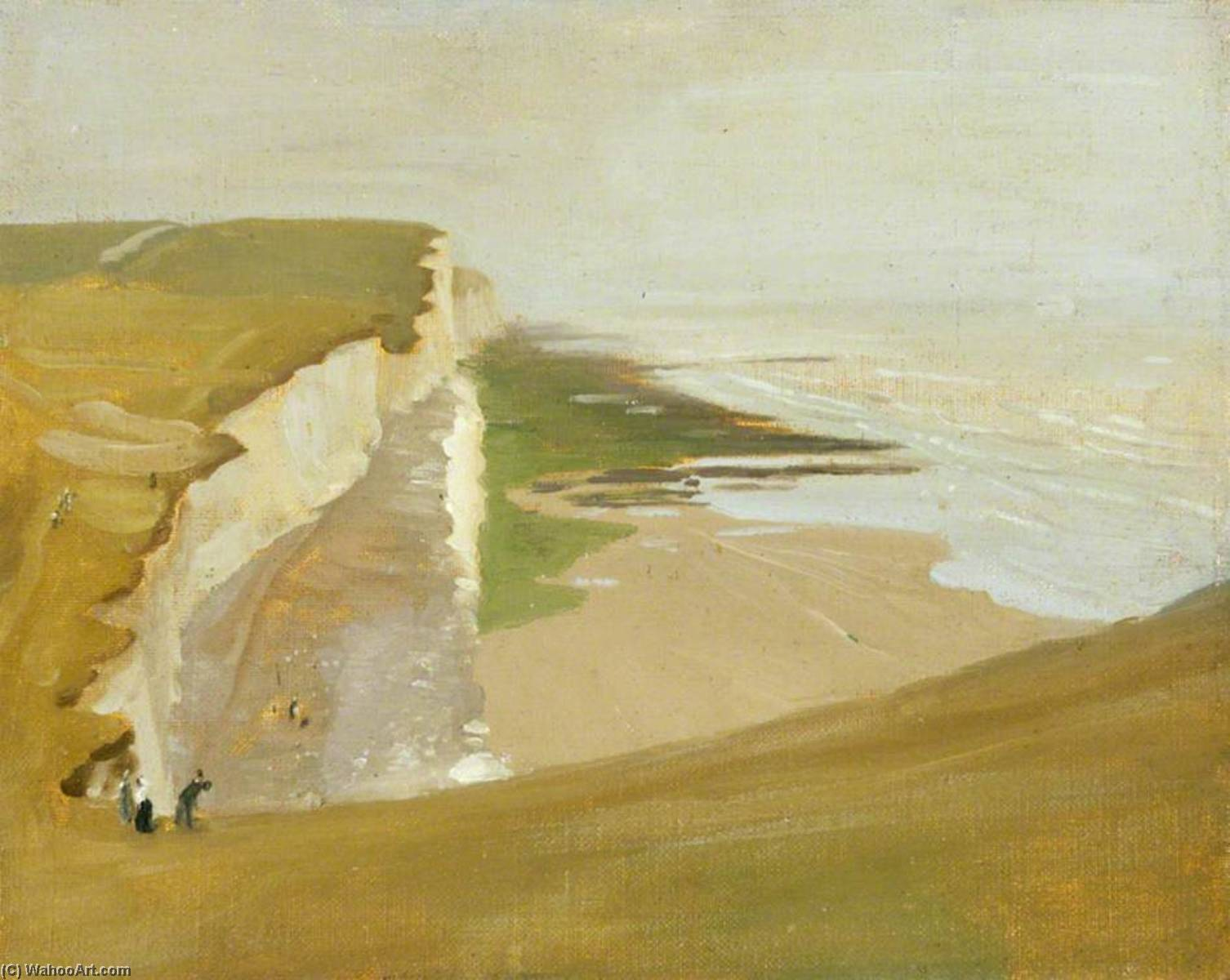 Cliffs at Rottingdean, 1910 by William Newzam Prior Nicholson (1872-1949, United Kingdom) | Famous Paintings Reproductions | WahooArt.com
