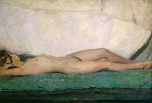 William Newzam Prior Nicholson - Nude