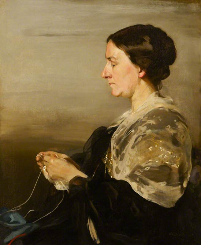 Margaret Field (1847–1936), Mrs James Samuel Beale, 1911 by William Newzam Prior Nicholson (1872-1949, United Kingdom) | Oil Painting | WahooArt.com
