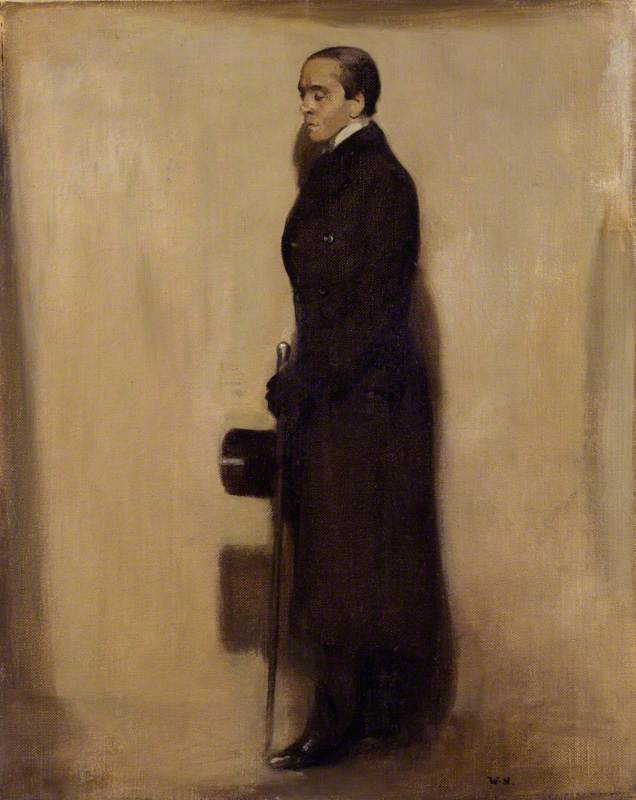 Sir Max Beerbohm, Oil On Canvas by William Newzam Prior Nicholson (1872-1949, United Kingdom)