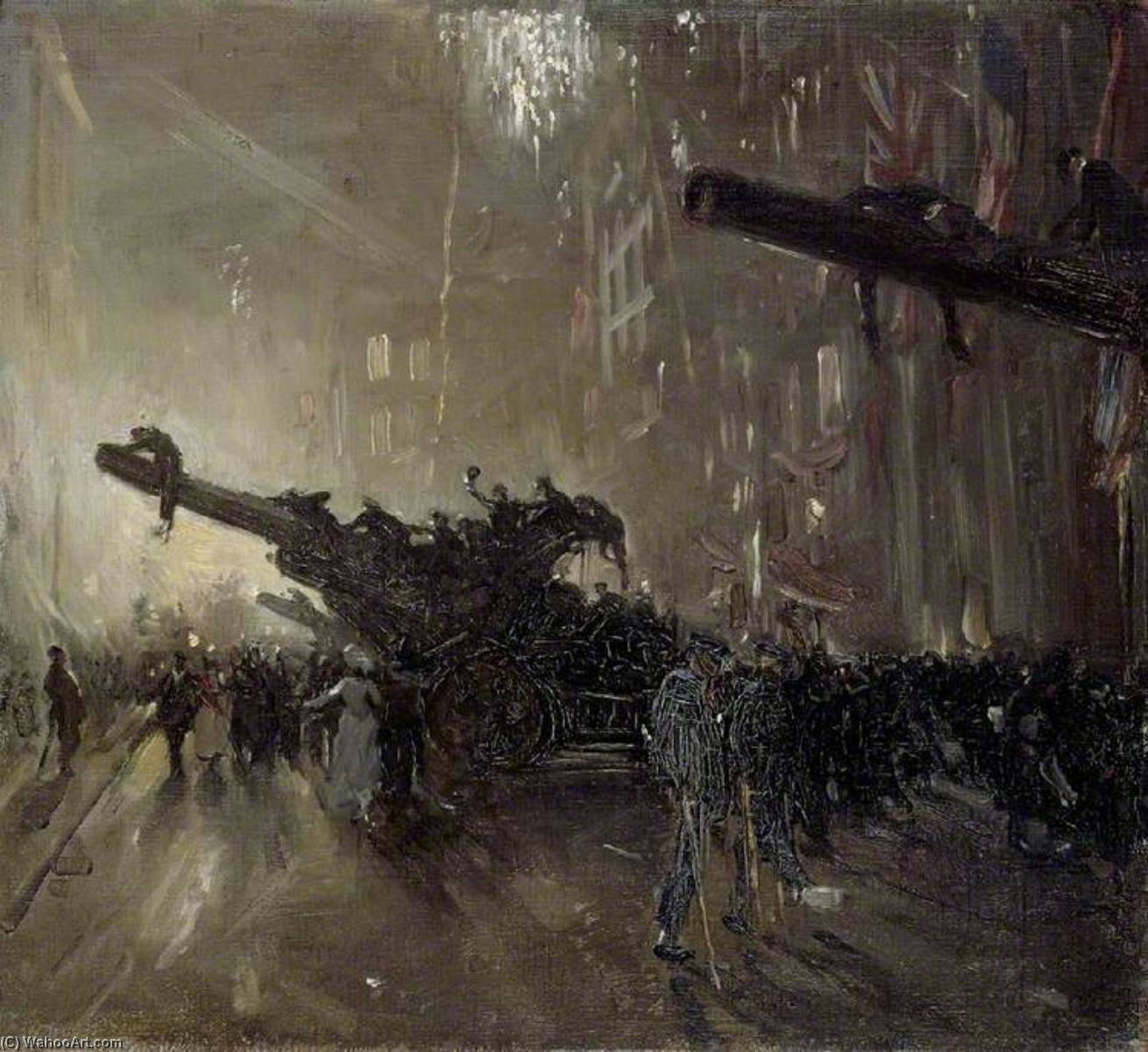 Armistice Night, 1918 by William Newzam Prior Nicholson (1872-1949, United Kingdom) | Famous Paintings Reproductions | WahooArt.com