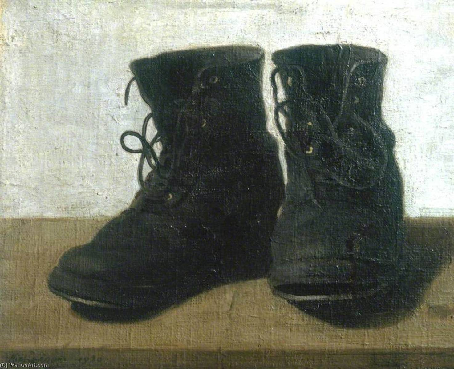 Miss Jekyll`s Gardening Boots, 1920 by William Newzam Prior Nicholson (1872-1949, United Kingdom) | Museum Quality Reproductions | WahooArt.com