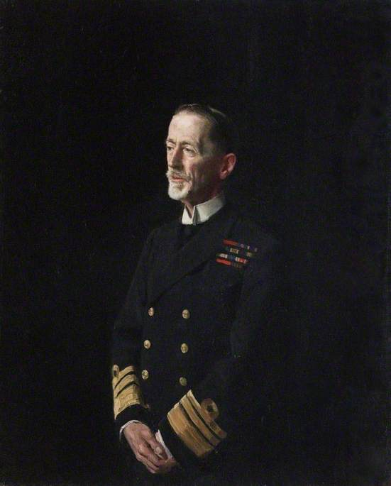 Vice Admiral Sir William C. Pakenham (1861–1933), KCB, KCMG, KCVO, Oil On Canvas by William Newzam Prior Nicholson (1872-1949, United Kingdom)