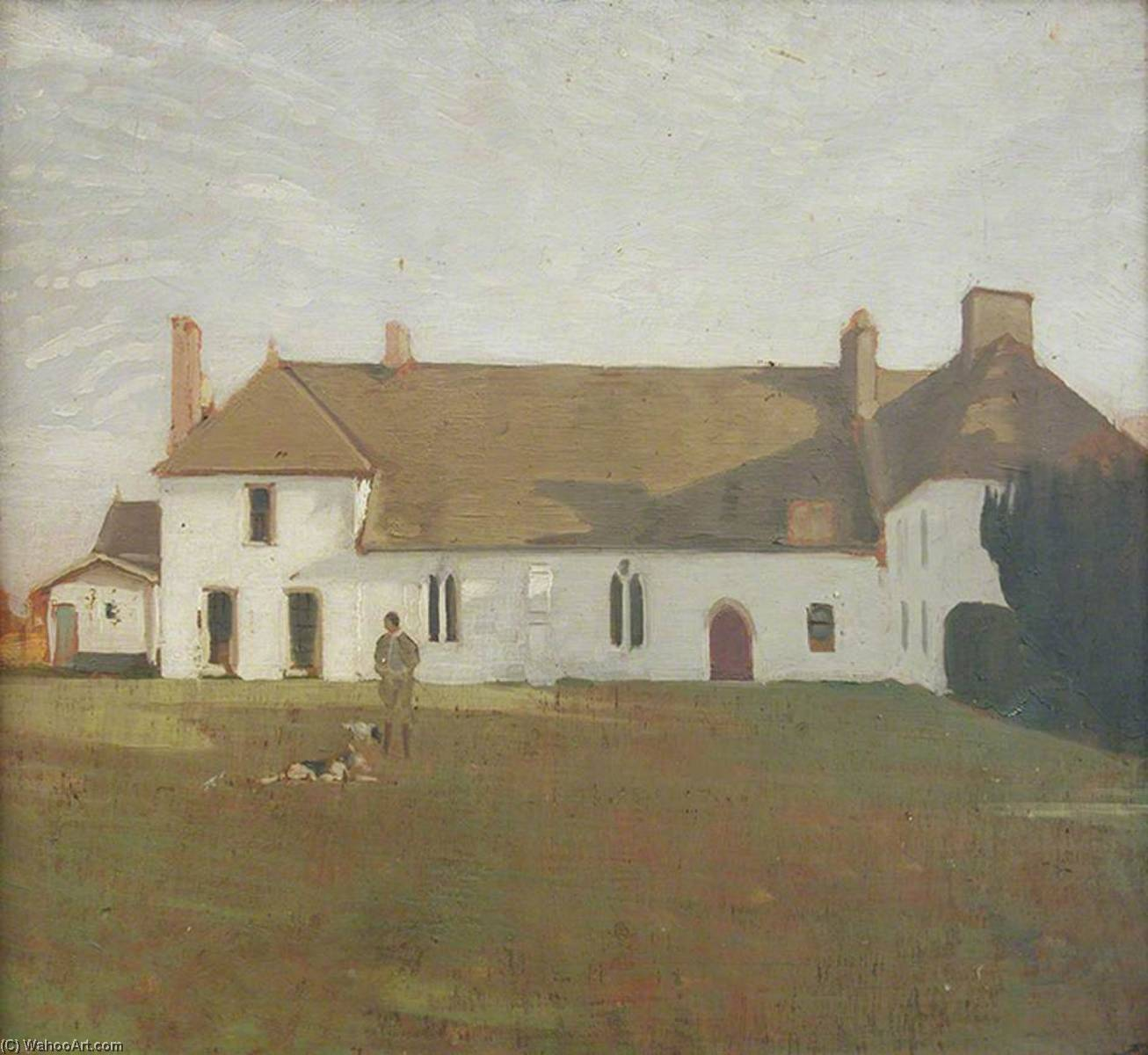 The White House, Sutton Veny, 1926 by William Newzam Prior Nicholson (1872-1949, United Kingdom) | Art Reproduction | WahooArt.com