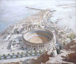 William Newzam Prior Nicholson - Plaza de Toros, Malaga