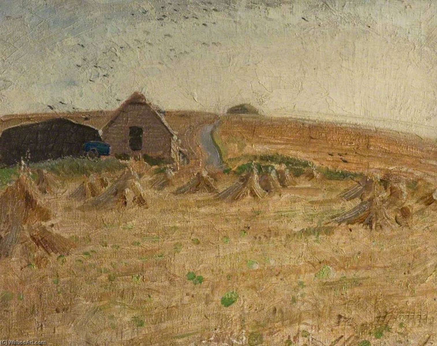 The Cornfield, 1925 by William Newzam Prior Nicholson (1872-1949, United Kingdom) | Famous Paintings Reproductions | WahooArt.com