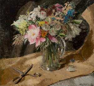 William Newzam Prior Nicholson - Flower Piece