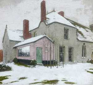 William Newzam Prior Nicholson - Sutton Veny in Snow