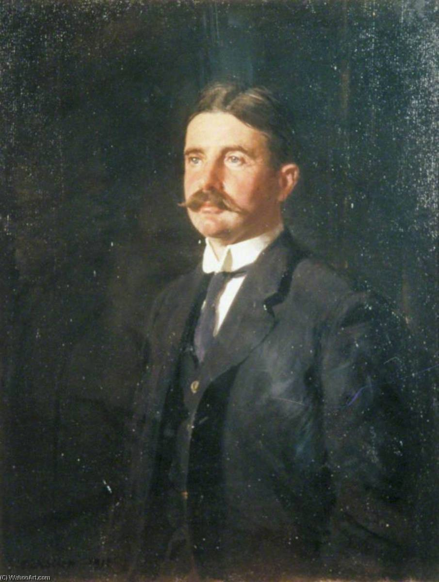 William Robert Wellesley Peel (1867–1937) by William Newzam Prior Nicholson (1872-1949, United Kingdom) | Oil Painting | WahooArt.com