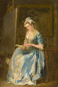Francis Hayman - Portrait of a Lady (probably the artist's wife)