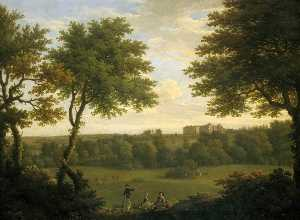 Francis Hayman - View of Copped Hall in Essex, from the Park