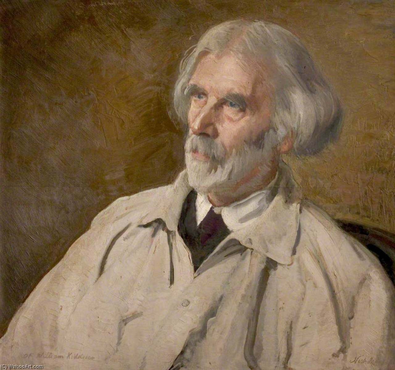 William Kiddier (1859–1934) by William Newzam Prior Nicholson (1872-1949, United Kingdom) | Museum Quality Reproductions | WahooArt.com