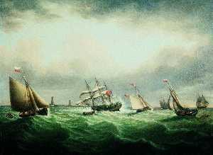 John Ward - The Wreck of the Ship 'Thomas' off the Stony Binks, 8 June 1821