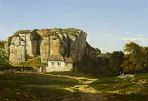 Henri-Joseph Harpignies - Cliffs Near Cremieu