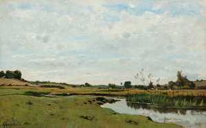 Henri-Joseph Harpignies - The Winding River