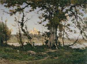 Henri-Joseph Harpignies - The Castle of Clisson
