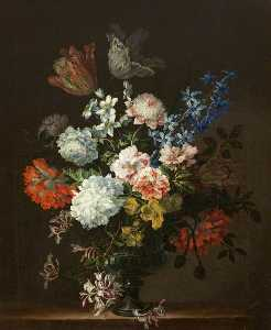 Jean Baptiste Monnoyer - Flower Piece in an Urn