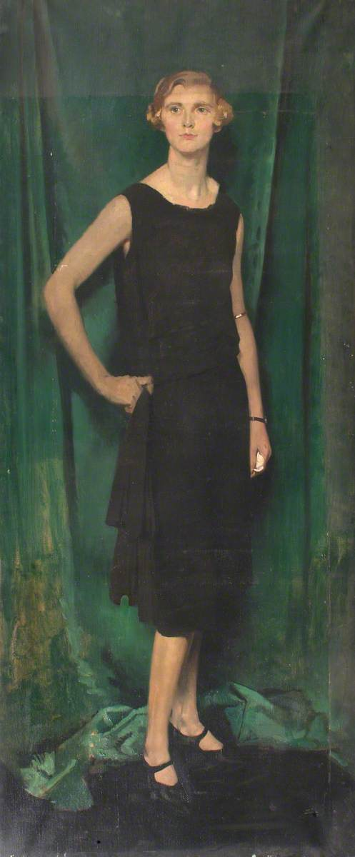 Miss Kennard, Oil On Canvas by William Newenham Montague Orpen (1878-1931, Ireland)