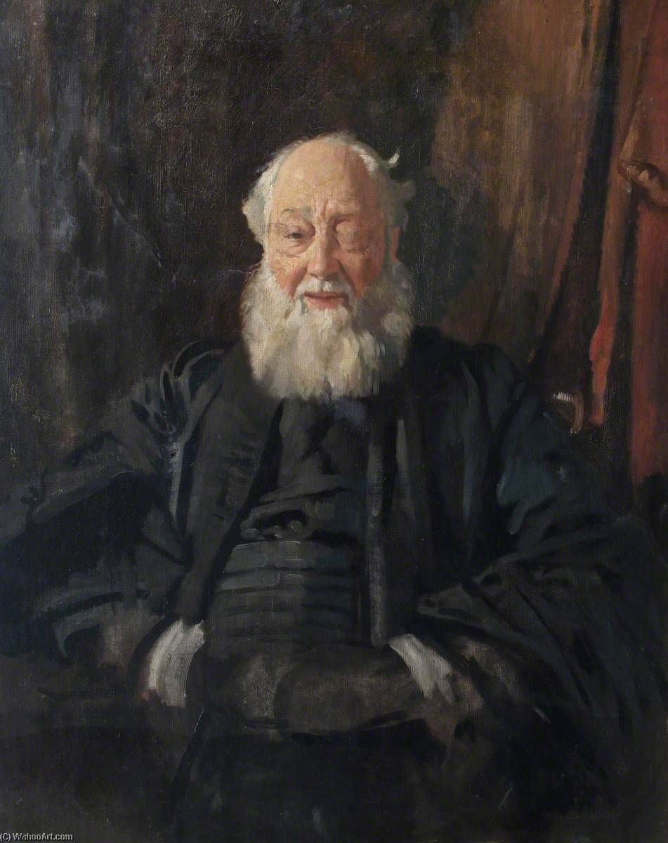 Dr Butler in Robes, Oil On Canvas by William Newenham Montague Orpen (1878-1931, Ireland)