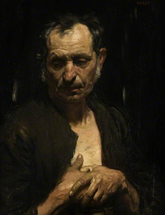 A Saint of the Poor, Oil On Canvas by William Newenham Montague Orpen (1878-1931, Ireland)