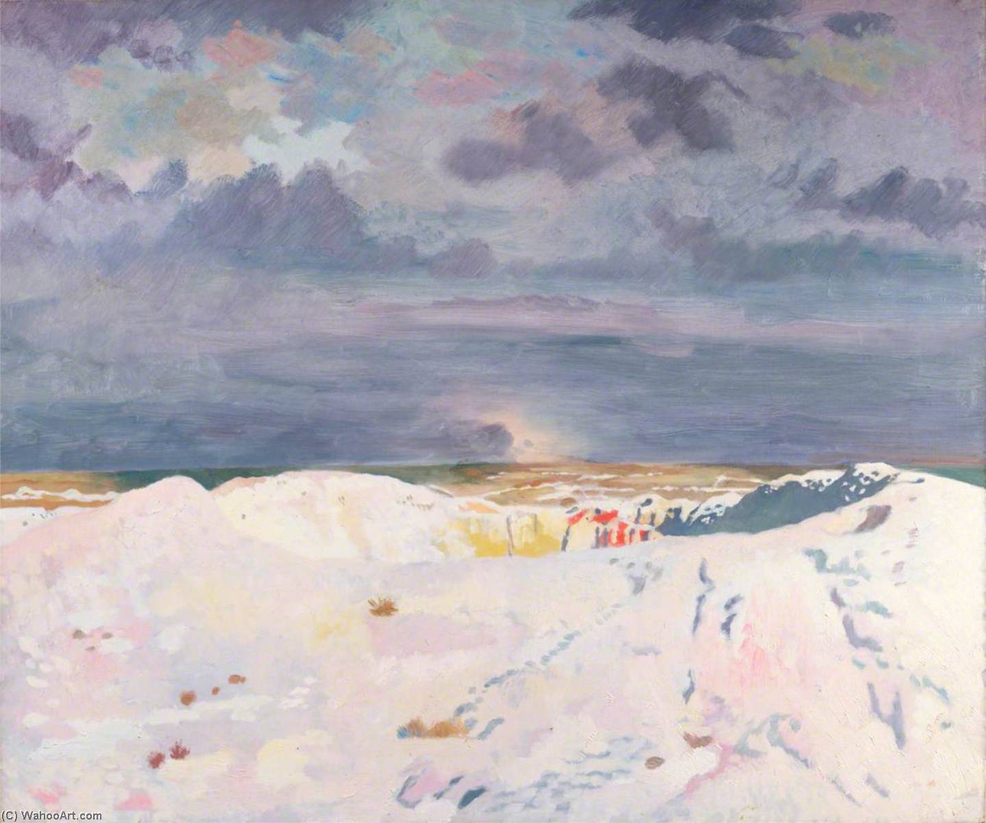 The Great Mine, La Boisselle, Oil On Canvas by William Newenham Montague Orpen (1878-1931, Ireland)