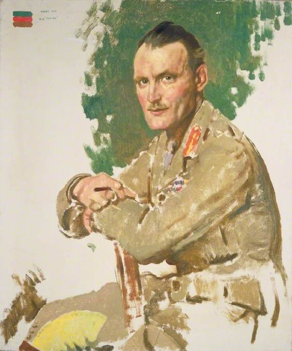 Brigadier General Hugh Jamieson Elles (1880–1945), CB, DSO, Oil On Canvas by William Newenham Montague Orpen (1878-1931, Ireland)