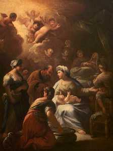 Luca Giordano - The Birth of the Virgin Mary