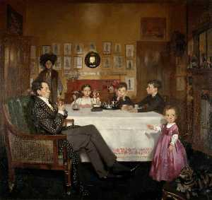William Newenham Montague Orpen - A Bloomsbury Family
