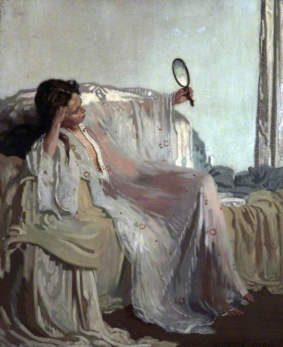 An Eastern Gown, Oil On Canvas by William Newenham Montague Orpen (1878-1931, Ireland)