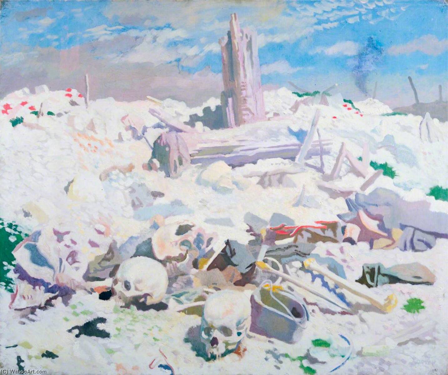 Thiepval, Oil On Canvas by William Newenham Montague Orpen (1878-1931, Ireland)
