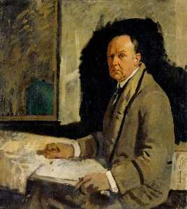 William Newenham Montague Orpen - Study for a Portrait of Leonard Stokes
