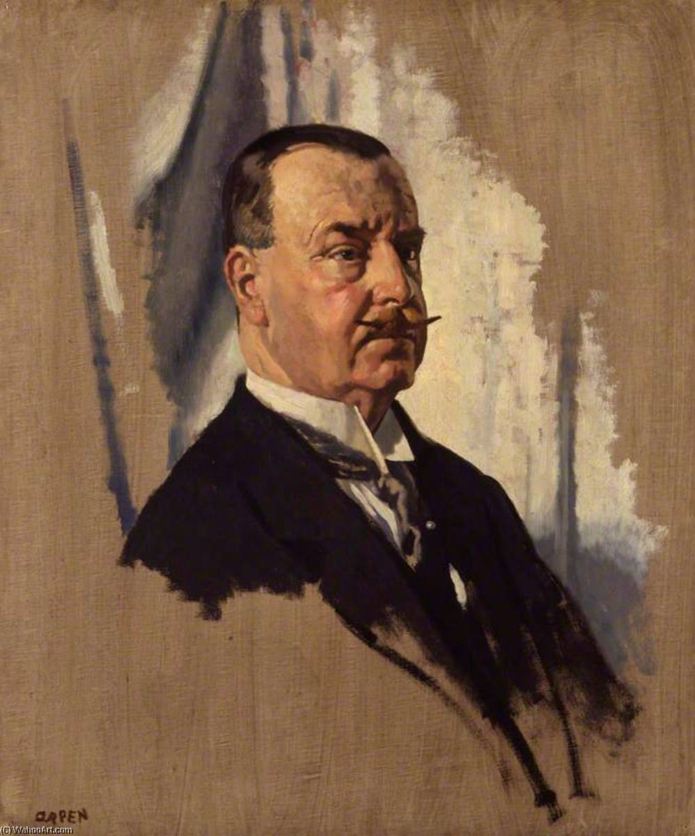 Sir Joseph George Ward, 1st Bt, Oil On Canvas by William Newenham Montague Orpen (1878-1931, Ireland)