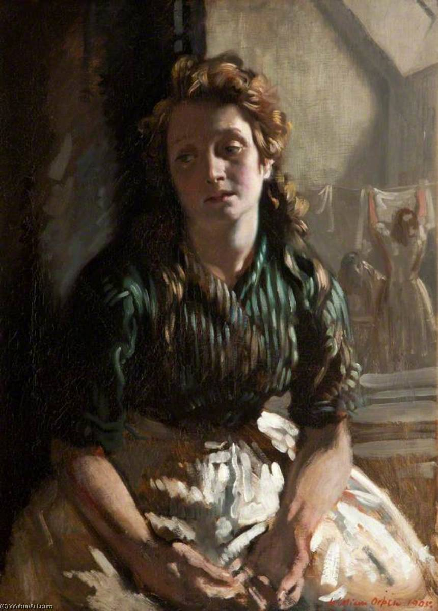 Resting, 1905 by William Newenham Montague Orpen (1878-1931, Ireland) | Museum Quality Reproductions | WahooArt.com