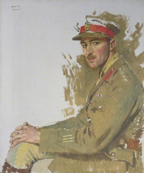 Major F. E. Hotblack, DSO, MC, Oil On Canvas by William Newenham Montague Orpen (1878-1931, Ireland)