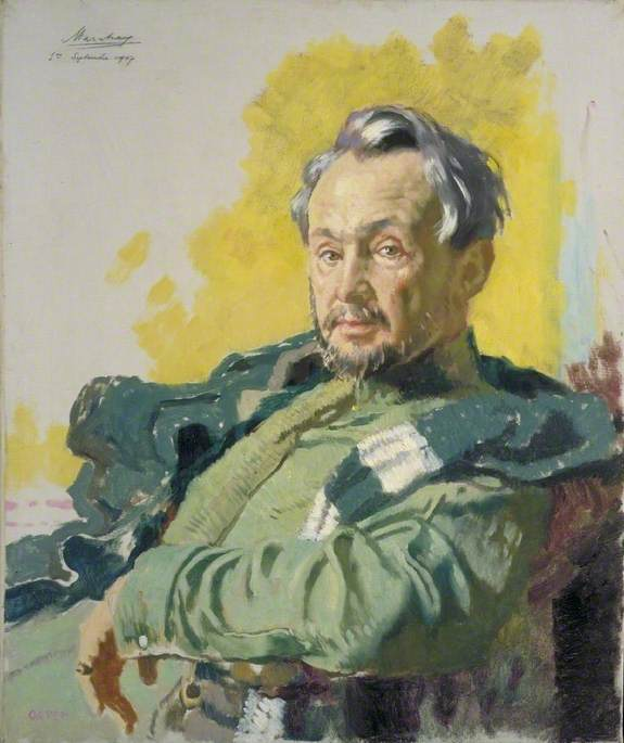 Monsieur R. D. De Maratray, French War Correspondent for 'Le Petit Journal', Oil On Canvas by William Newenham Montague Orpen (1878-1931, Ireland)