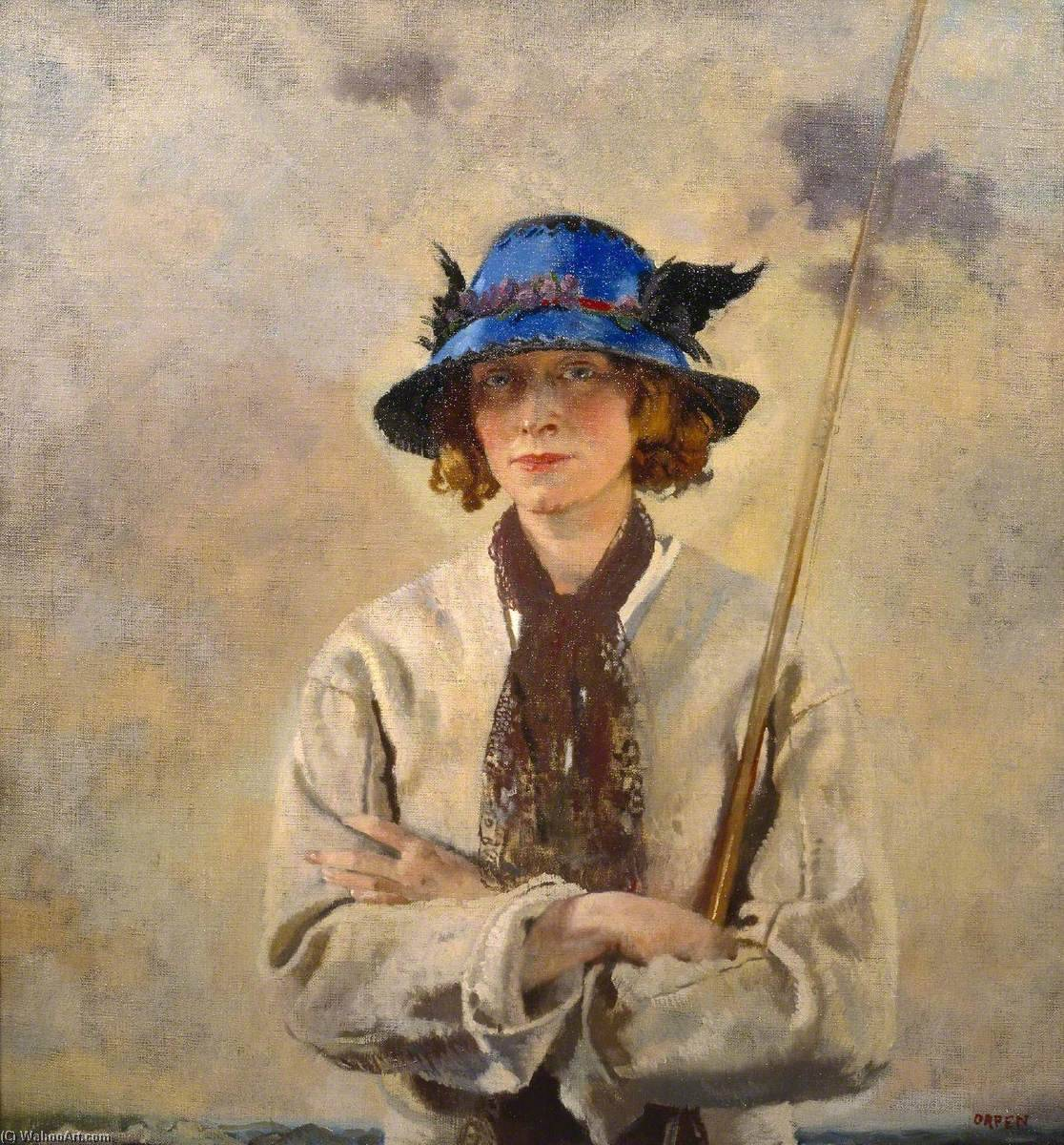 The Angler, Oil On Canvas by William Newenham Montague Orpen (1878-1931, Ireland)