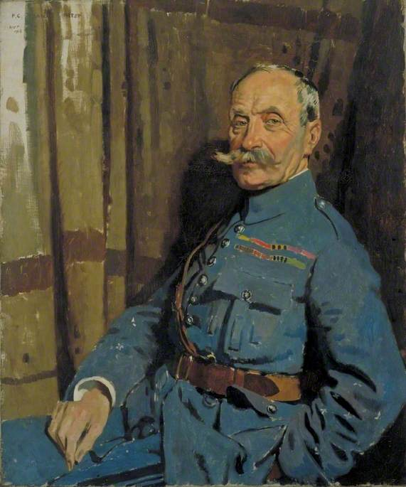 Marshal Ferdinand Foch (1851–1929), OM, Oil On Canvas by William Newenham Montague Orpen (1878-1931, Ireland)