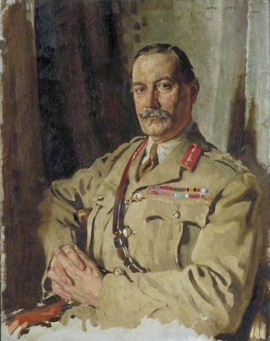 Lieutenant General Sir Travers Clarke, KCMG, CB, Quartermaster General, France, December 1917, Oil On Canvas by William Newenham Montague Orpen (1878-1931, Ireland)