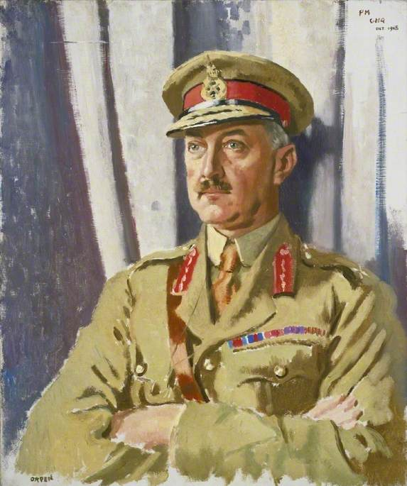 Brigadier General William Thomas Francis Horwood (1868–1943), DSO, Late Provost Marshal, General Headquarters, British Expeditionary Force, Oil On Canvas by William Newenham Montague Orpen (1878-1931, Ireland)