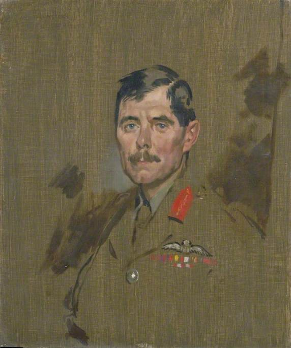 Major General Hugh M. Trenchard (1873–1956), CB, DSO, Royal Flying Corps, Oil On Canvas by William Newenham Montague Orpen (1878-1931, Ireland)