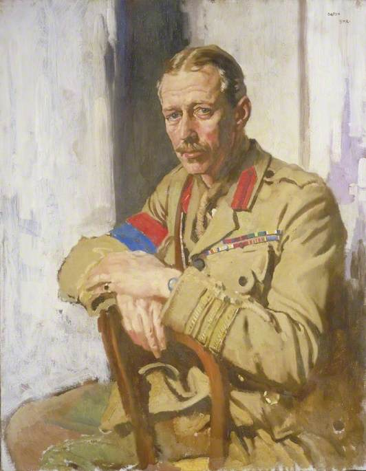 Lieutenant Colonel A. N. Lee, DSO, OBE, TD, Censor in France of Paintings and Drawings by Artists at the Front, Oil On Canvas by William Newenham Montague Orpen (1878-1931, Ireland)