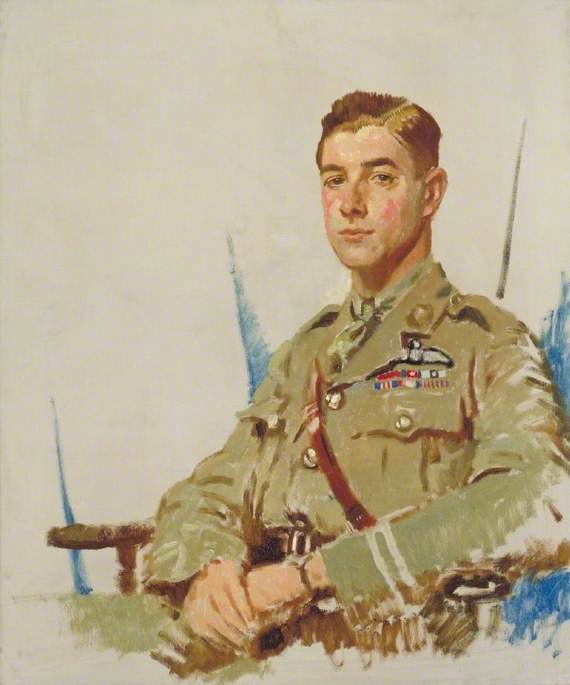 Major James Byford McCudden (1895–1918), VC, DSO, MC, Oil On Canvas by William Newenham Montague Orpen (1878-1931, Ireland)