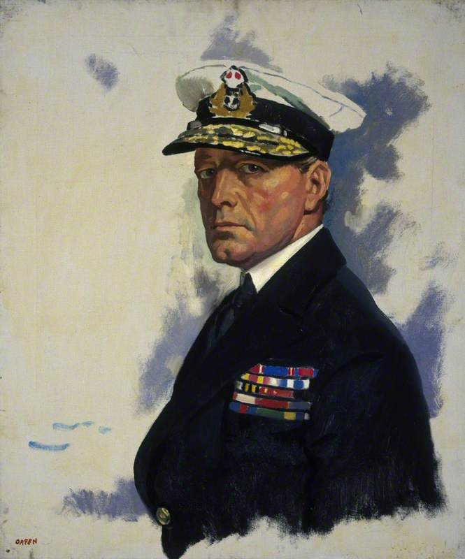 David Beatty (1871–1936), 1st Earl Beatty, Admiral, Oil On Canvas by William Newenham Montague Orpen (1878-1931, Ireland)