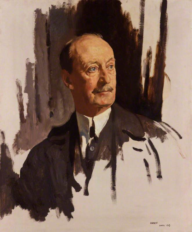 Charles Hardinge, 1st Baron Hardinge of Penshurst, Oil On Canvas by William Newenham Montague Orpen (1878-1931, Ireland)